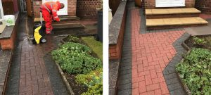 Jet washing, block paving and slabs - Before and After